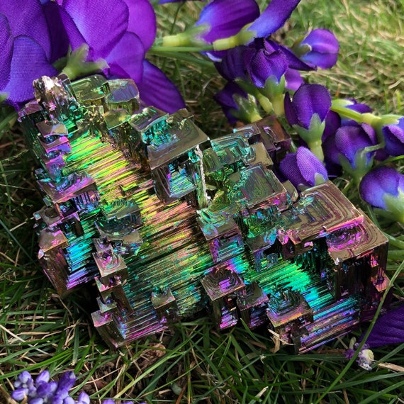 Bismuth Crystal Cluster XL