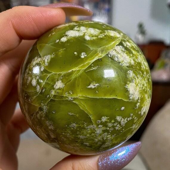 Gorgeous Green Serpentine Sphere