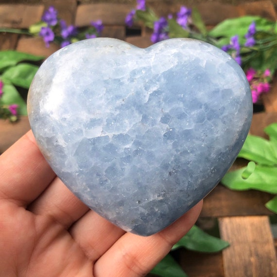 Blue Calcite Hearts