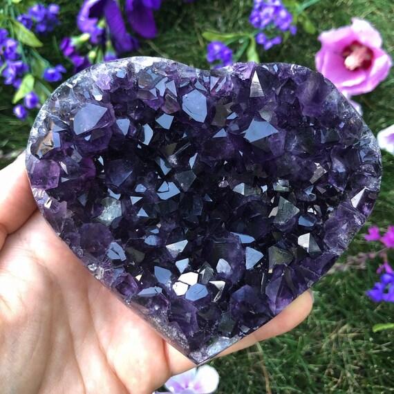 Large Amethyst Geode Heart