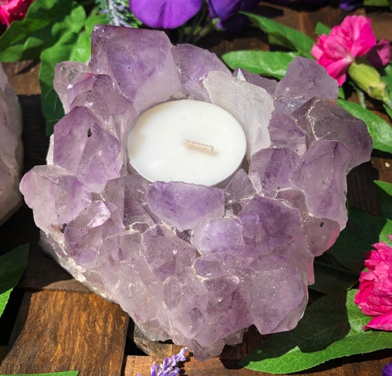 Amethyst Candle Holders