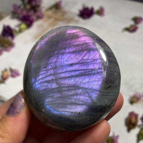 Purple Labradorite Palm Stone