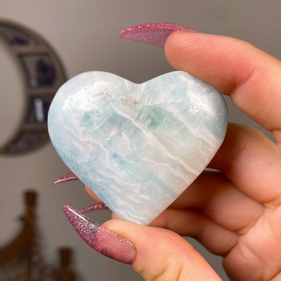 Caribbean Calcite Crystal Heart