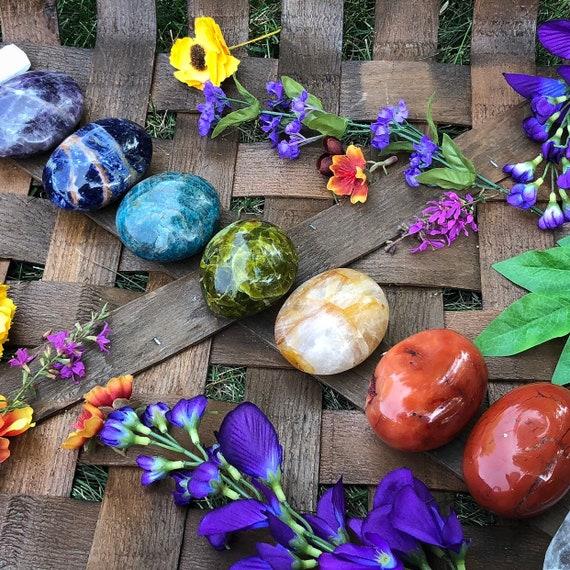 Chakra Palm Stone Set Large