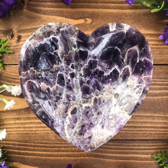 Amethyst Heart Dish