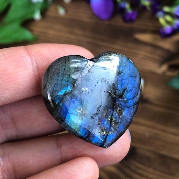 Mini Labradorite Stone Hearts