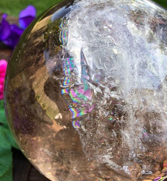 Amazing Rainbow Smokey Quartz Sphere