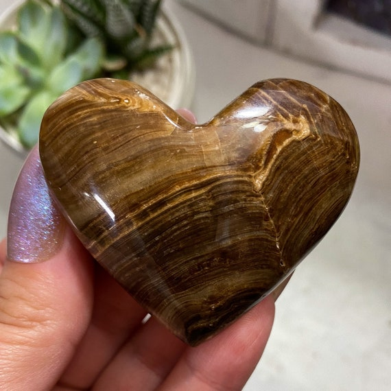 Chocolate Calcite Heart