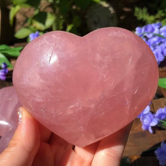 Large Star Rose Quartz Hearts