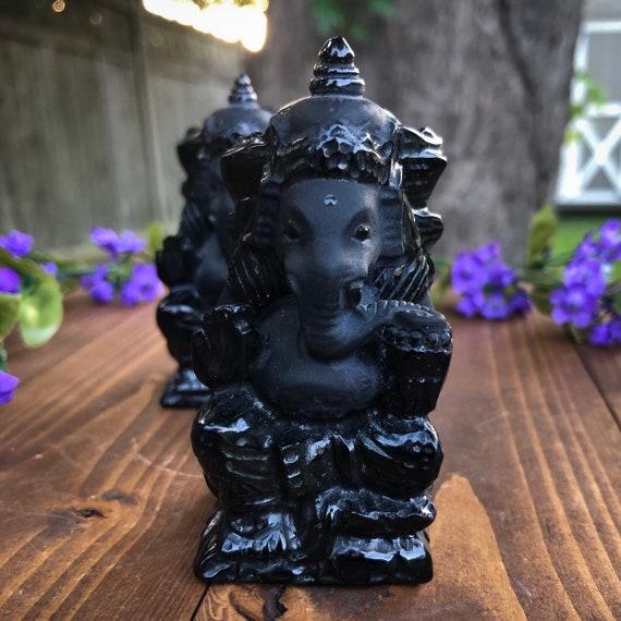 Ganesh Obsidian Statue