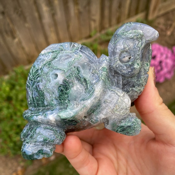 Moss Agate Turtle/Tortoise