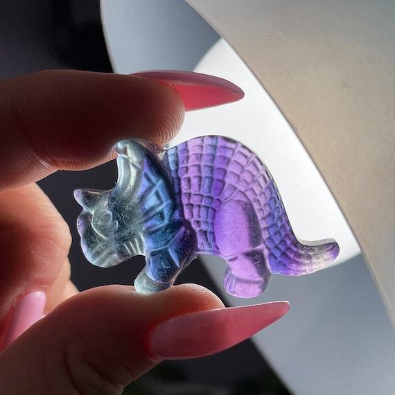 Rainbow Fluorite Triceratops