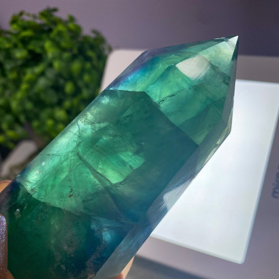 Rainbow Fluorite Tower Point