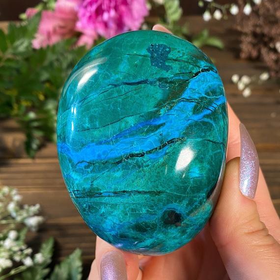 XLarge Chrysocolla Palm Stones