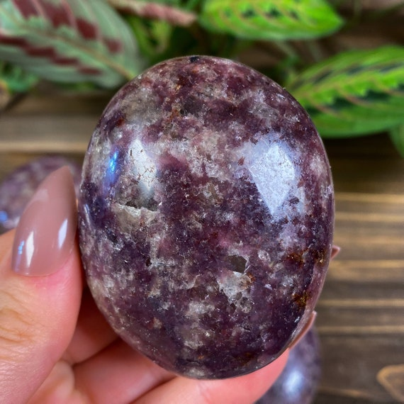 You Choose Large Lepidolite Palm Stones
