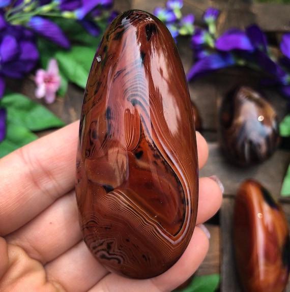 Silk Agate Palm Stones