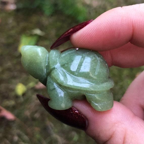Mini Jade Turtle Statue