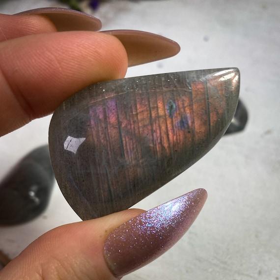 Fire Purple Orange Labradorite Cabochon Pendants