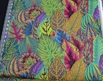 Beautiful Quilt Fabric  from the bolt Coleus Teal by Philip Jacobs for Kaffe Fassett Collective