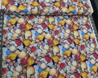 Sea Shells Colorful - high quality quilting Cotton from the bolt