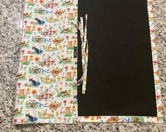 Jigsaw Puzzle Mat, cats, grumpy cats, felt, handmade