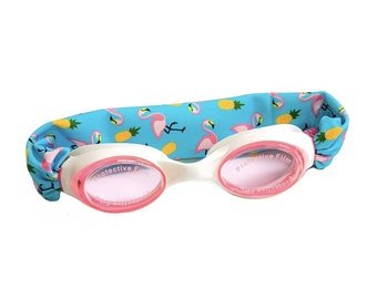 e0ddfa85f726 Flamingo and Pineapple Kids and Adults Splash Swim Goggles