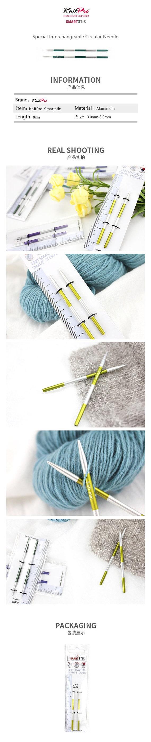 Gouttes interchangeables circulaire aiguille à tricoter câbles-Compatible avec Knit Pro
