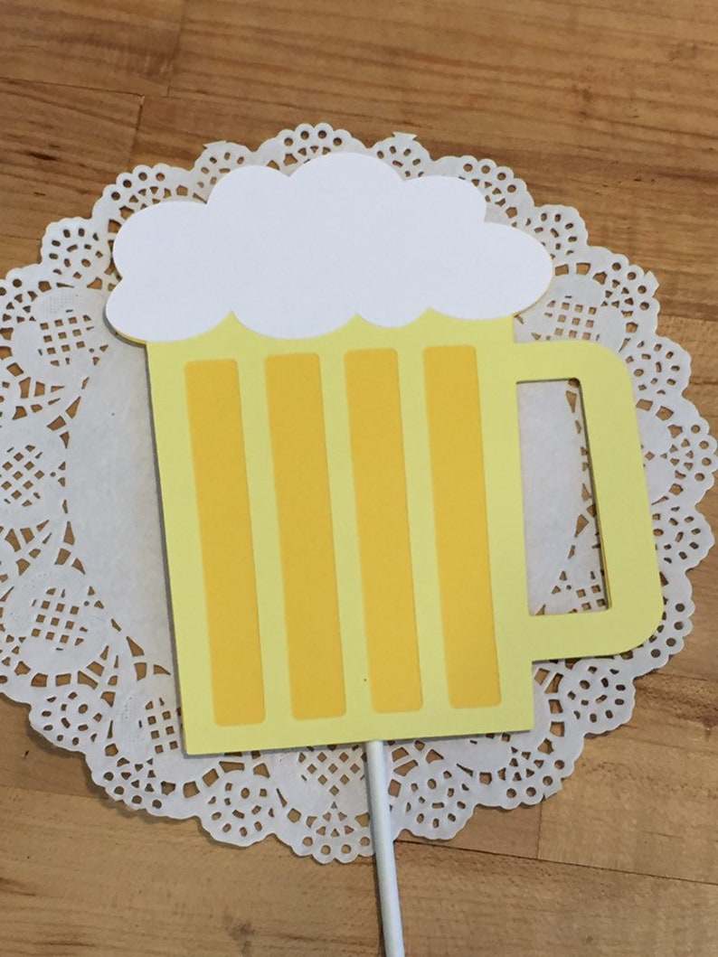 Birthday Decorations Birthday Banner Cheers to 30 Years Banner Cheers /& Beers dirty 30 Beer Mug Cake Topper 30th birthday banner