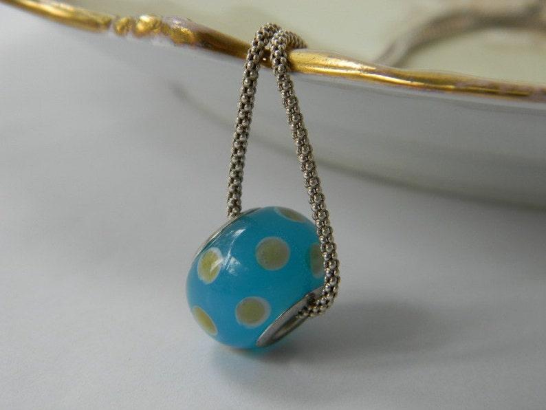 3852de6309dd ViNTaGe plata cristal Perla encanto collar lunares bola