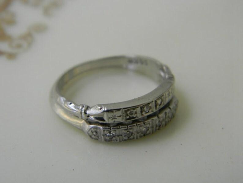 5da28ed257b7 ViNTaGe 14K oro diamante boda anillo establece compromiso oro