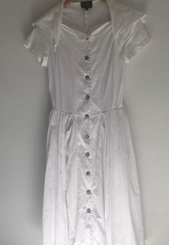 Vintage Vivienne Westwood Anglomania white cotton… - image 4