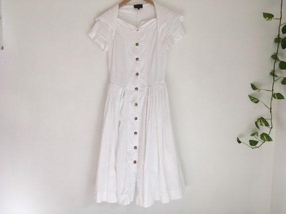 Vintage Vivienne Westwood Anglomania white cotton… - image 1