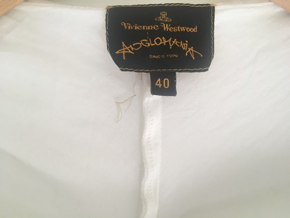 Vintage Vivienne Westwood Anglomania white cotton… - image 9