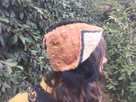 Hand made recycled fur hat blush pink dusty rose … - image 4
