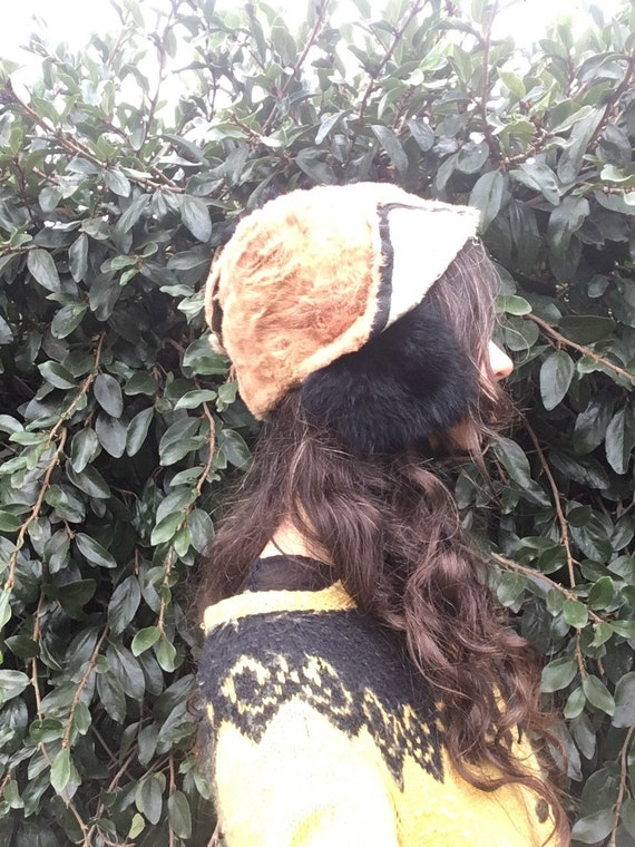 Hand made recycled fur hat blush pink dusty rose … - image 3