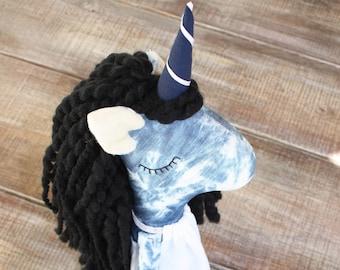 Nadira – Unicorn doll – rag doll – handmade cloth doll – heirloom doll – unique girl gifts– big sister doll