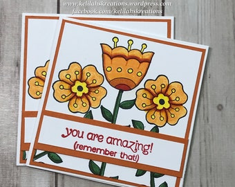 "3x3 ""You Are Amazing"" Note Card Set"
