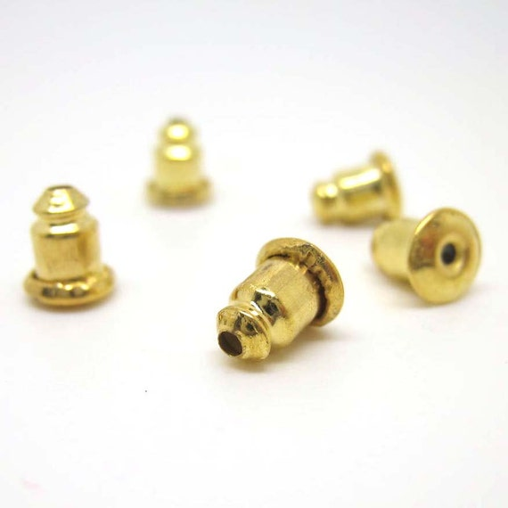 643ac7084d9c 50pcs arete de oro balas partes posterioras oreja embrague