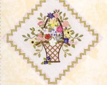 SPRING BOUQUET Wall Hanging Applique Art Quilt Pattern by Pearl Pereira