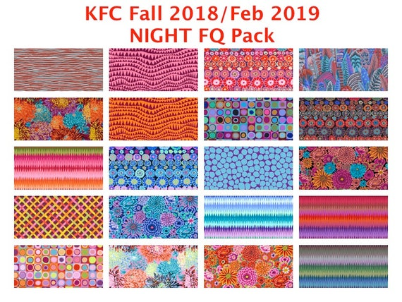 NIGHT FQ Bundle KFC Fall 2018 Kaffe Fassett Collective's Kaffetastic bundle - Release date February 2019