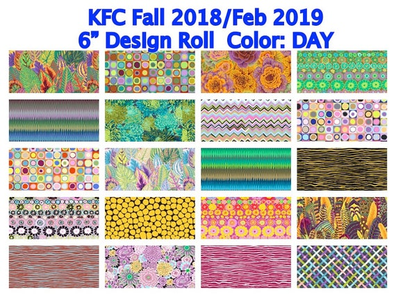 "DAY  6"" Design Roll  KFC Fall 2018 / Feb 2019 Kaffe Fassett Collective"