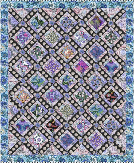 Pre-Order! Keep Separate - BRASSICA ORANGES Quilt Kit  by Kaffe Fassett Collective - 2 size options
