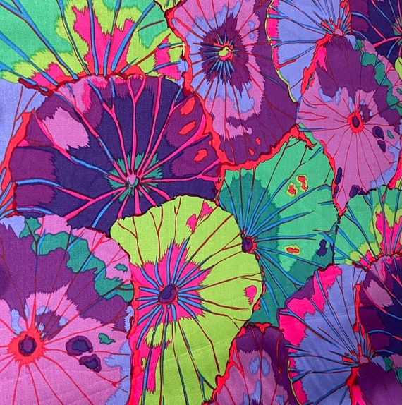 """LOTUS LEAF PURPLE 108"""" Wide Backing Fabric Sateen finish Kaffe Fassett - Listed in 1/2 yd  increments - Multiple units cut as one length"""