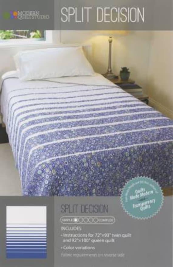 SPLIT DECISION Quilt Pattern by Modern Quilt Studio