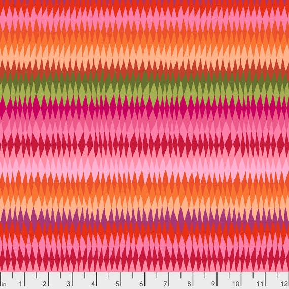 DIAMOND STRIPE PINK Kaffe Fassett PWGP170 Sold in 1/2 yd increments
