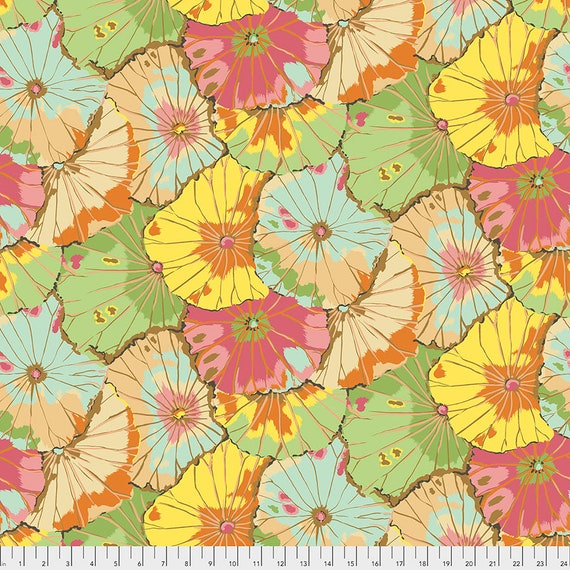 """LOTUS LEAF Jade  108"""" Wide Backing Fabric - Sateen Finish - Kaffe Fassett  - Sold in 1/2 yd units - Multiples cut as one length"""