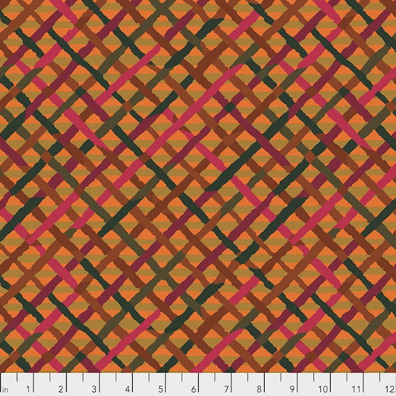 1/2 yd MAD PLAID Rust PWBM037 Brandon Mably - Kaffe Fassett - Sold in 1/2 yd increments - Multiple units cut as one length