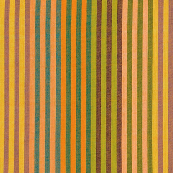 CATERPILLAR STRIPE SUNSHINE Yellow Kaffe Fassett - Sold in 1/2 yd increments - Multiples cut as one length