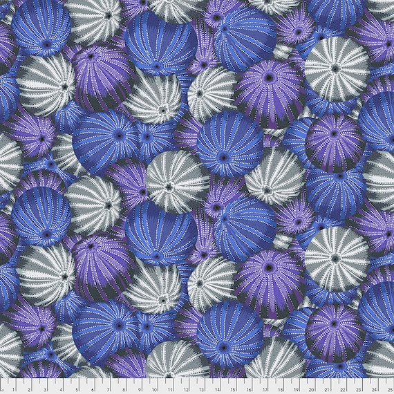 SEA URCHINS GRAY Grey pwpj100 Philip Jacobs Kaffe Fassett Collective -  1/2 yd - Multiples cut continuously - Multiples cut in one length