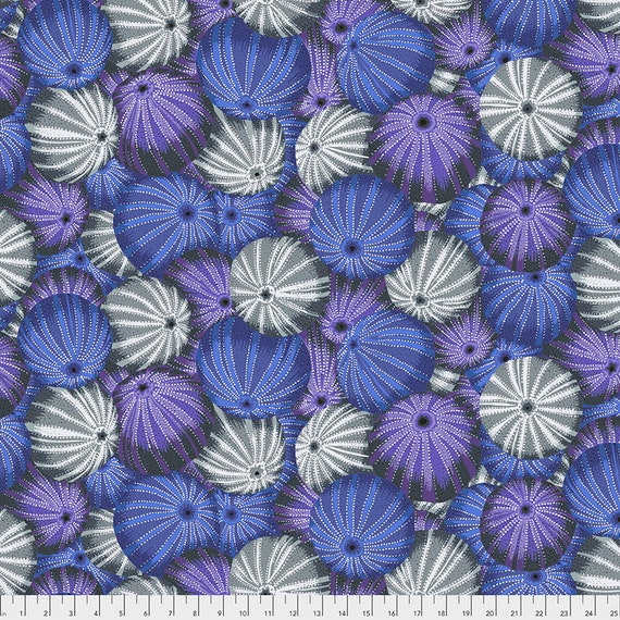 SEA URCHINS GRAY Grey pwpj100 Philip Jacobs Kaffe Fassett Collective - Sold in 1/2 yd increments - Multiples cut in one length